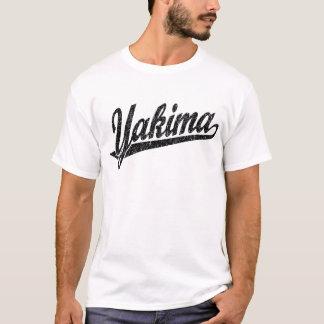 Yakima Skriptlogo im Schwarzen beunruhigt T-Shirt