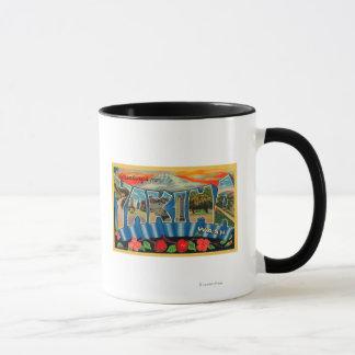 Yakima, Washington - große Buchstabe-Szenen 2 Tasse