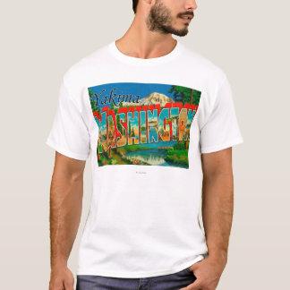 Yakima, Washington - große Buchstabe-Szenen T-Shirt