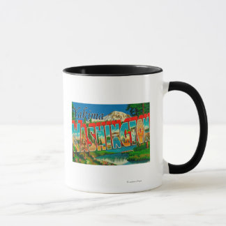 Yakima, Washington - große Buchstabe-Szenen Tasse