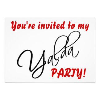Yalda Party Einladungs-Karte Ankündigung