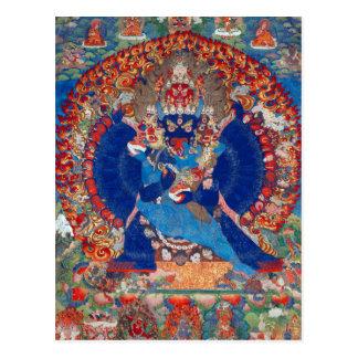 Yamantaka Vajrabhairava tibetanische buddhistische Postkarte