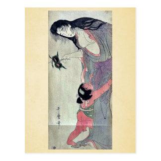Yamauba, das Kastanien durch Kitagawa, Utamaro Postkarte