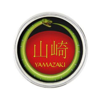 Yamazaki Monogramm-Schlange Anstecknadel