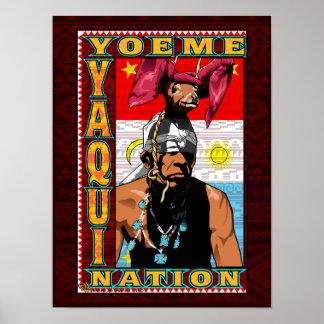 Yaqui Rotwild-Tänzer Yoeme Plakatdruck auf Poster