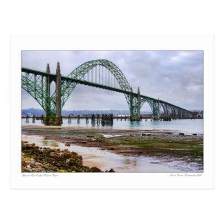Yaquina Bucht-Brücken-Postkarte Postkarte
