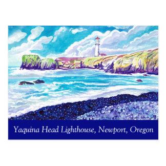Yaquina Hauptleuchtturm-Postkarte Postkarte
