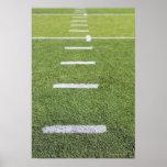 Yardlines auf Fußballplatz Plakatdruck