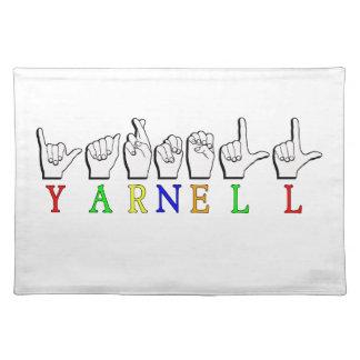 YARNELL FINGERSPELLED ASL NAMENSzeichen Tischset