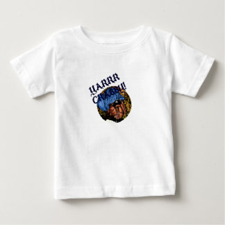 Yarr mürrischer Piraten-Einsiedlerkrebs-Entwurf Baby T-shirt