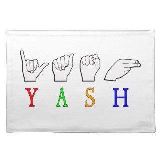 YASH FINGERSPELLED ASL NAMENSzeichen Tischset