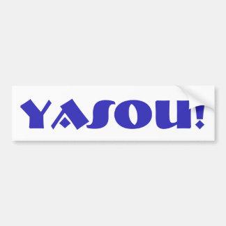 Yasou griechischer Segen Autoaufkleber