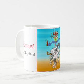Yee-Haw ist es Kaffeezeit-Tasse Kaffeetasse