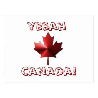Yeeah Kanada Flaggen-Ahornblatt-Postkarte Postkarte