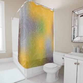 yellow gradient Zen pattern Duschvorhang