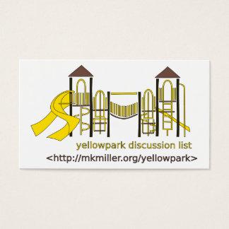 Yellowpark Diskussions-Listen-Karte Visitenkarte