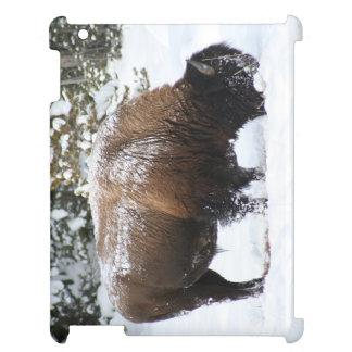Yellowstone-Bison im Winter iPad Hülle