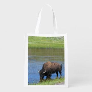 Yellowstone-Büffel-Andenken Wiederverwendbare Einkaufstasche