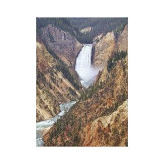 Yellowstone-Fälle Leinwanddruck