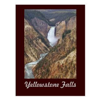 Yellowstone-Fälle Postkarte