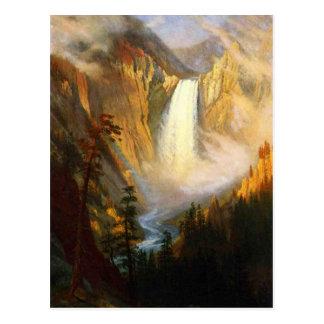 Yellowstone fällt Postkarte