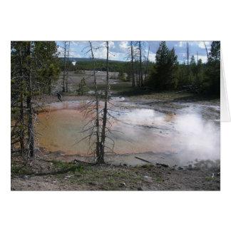 Yellowstone-heiße Quellen Karte