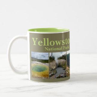 Yellowstone N.P. Collage Zweifarbige Tasse