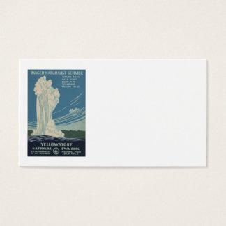 Yellowstone Nationalpark altes zuverlässiges Visitenkarte