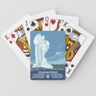 Yellowstone Nationalpark Andenken - Vintages WPA Spielkarten