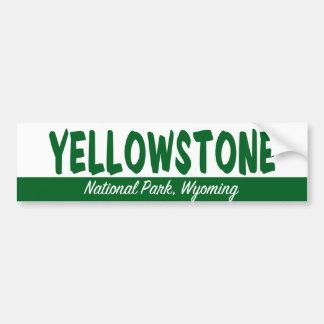 Yellowstone Nationalpark Autoaufkleber