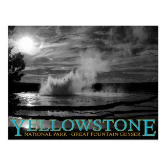 Yellowstone Nationalpark großer Brunnen-Geysir Postkarte