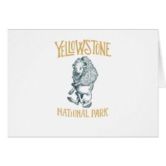 Yellowstone Nationalpark Gruß-Karte Karte