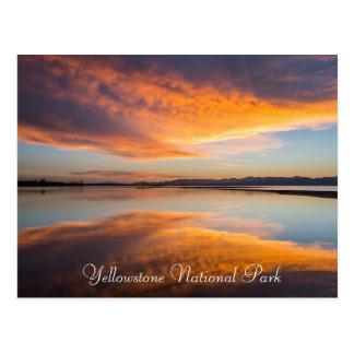 Yellowstone Nationalpark Montana-Postkarte Postkarte