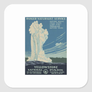 Yellowstone Nationalpark Quadratischer Aufkleber