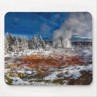 Yellowstone Nationalpark Wyoming im Winter Mousepad