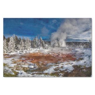 Yellowstone Nationalpark Wyoming im Winter Seidenpapier