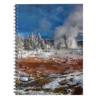 Yellowstone Nationalpark Wyoming im Winter Spiral Notizblock