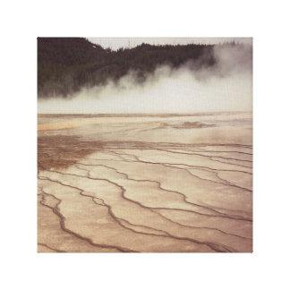 Yellowstone-Nebel Leinwanddruck