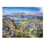 Yellowstone-Panorama Postkarten