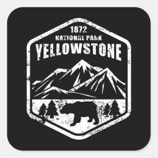 Yellowstone                                      , quadratischer aufkleber