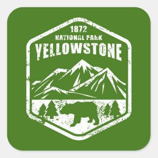 Yellowstone Quadratischer Aufkleber