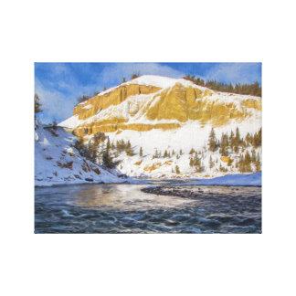 Yellowstone River Leinwanddruck