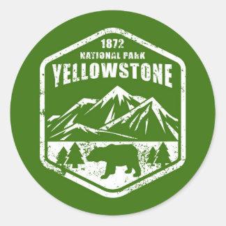 Yellowstone Runder Aufkleber