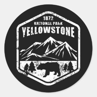 Yellowstone                                      , runder aufkleber