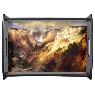 Yellowstone-Wasserfall-Fluss-GebirgsServiertablett Tablett