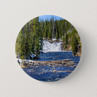 Yellowstone Wyoming Runder Button 5,1 Cm