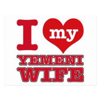 Yemen-Ehefrau Postkarte