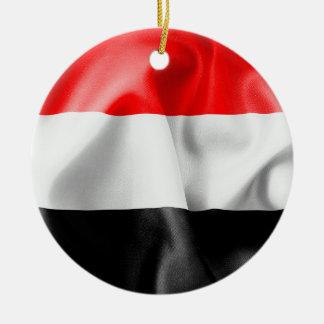 Yemen-Flaggen-Keramik-Weihnachtsverzierung Keramik Ornament
