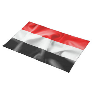 Yemen-Flaggen-Tischset Tischset