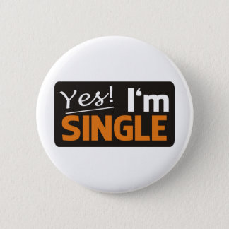 Yes i'm single runder button 5,1 cm
